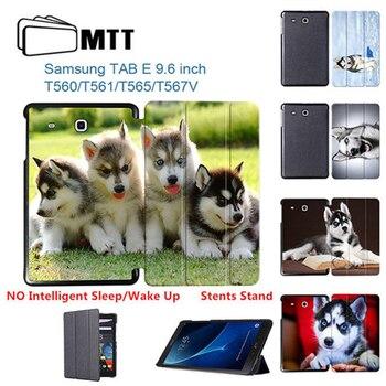 HUSKY pies osłona zabezpieczająca do Samsung Tab E 9.6 cal odwróć składany pokrywy skrzynka dla Samsung Galaxy Tab E 9.6 SM-T560 T561 Tablet