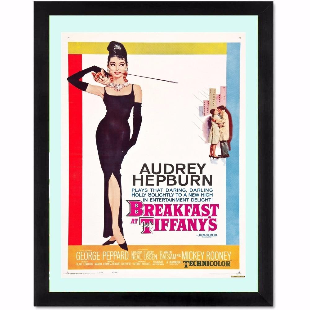 Audrey Hepburn Movie Canvas Art Print Painting Poster Wall