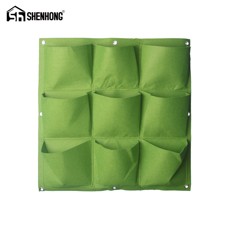 Multiple Styles Vertical Grow Bag Gardening Wall Hanging Felt Bonsai Bags  Flowers Growing Pot Growing Bags