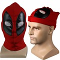 New Marvel Superhero Deadpool Mask Breathable Fabric Faux Leather Full Face Mask Halloween Cosplay Prop