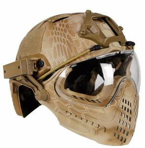 Image 2 - Tactical helmet with Mask Military Airsoft Army WarGame Motorcycle Cycling Hunting Riding Outdoor Activities