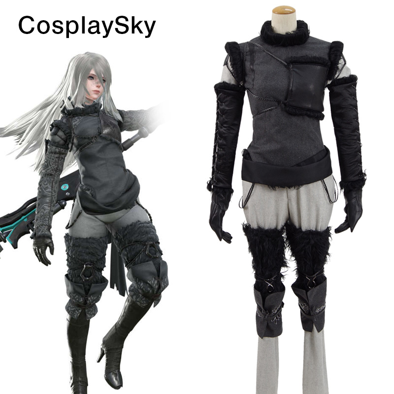 Hot game NieR Automata Cosplay Costumes Uniform Suit Outfit Clothes Cosplay Costume Set Custom Made Halloween Costumes Black