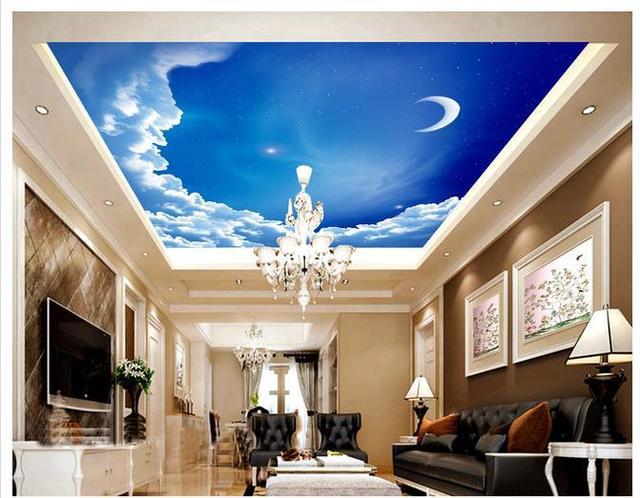 3d Wallpaper Benutzerdefinierten Wandbild Vlies Europäischen Stil Villa  Wohnzimmer Decke Decke Design Dekoration Wandbild Tapete