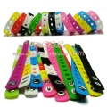 15 styles choose 1pcs Multi color 18cm silicone wristbands bracelets fit shoe charms fashion decoration children gifts
