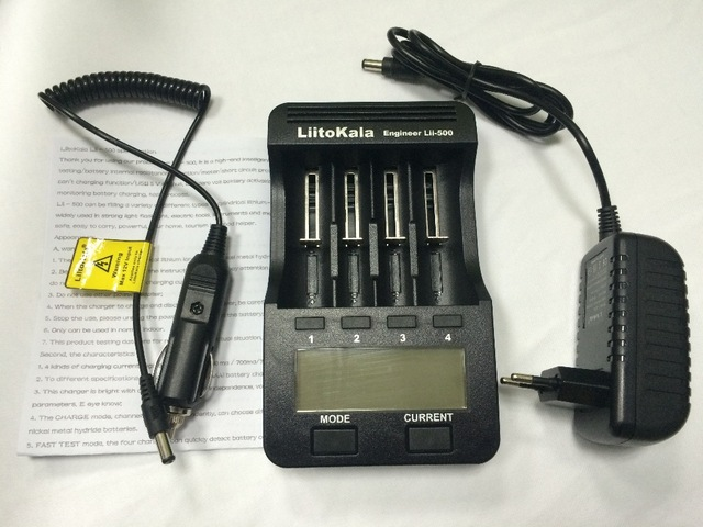 Liitokala Lii 500 lcd in the 18650 18350 18500 16340 17500 25500 10440 14500 26650 1.2 in aa aaa nimh rechargeable lithium batte