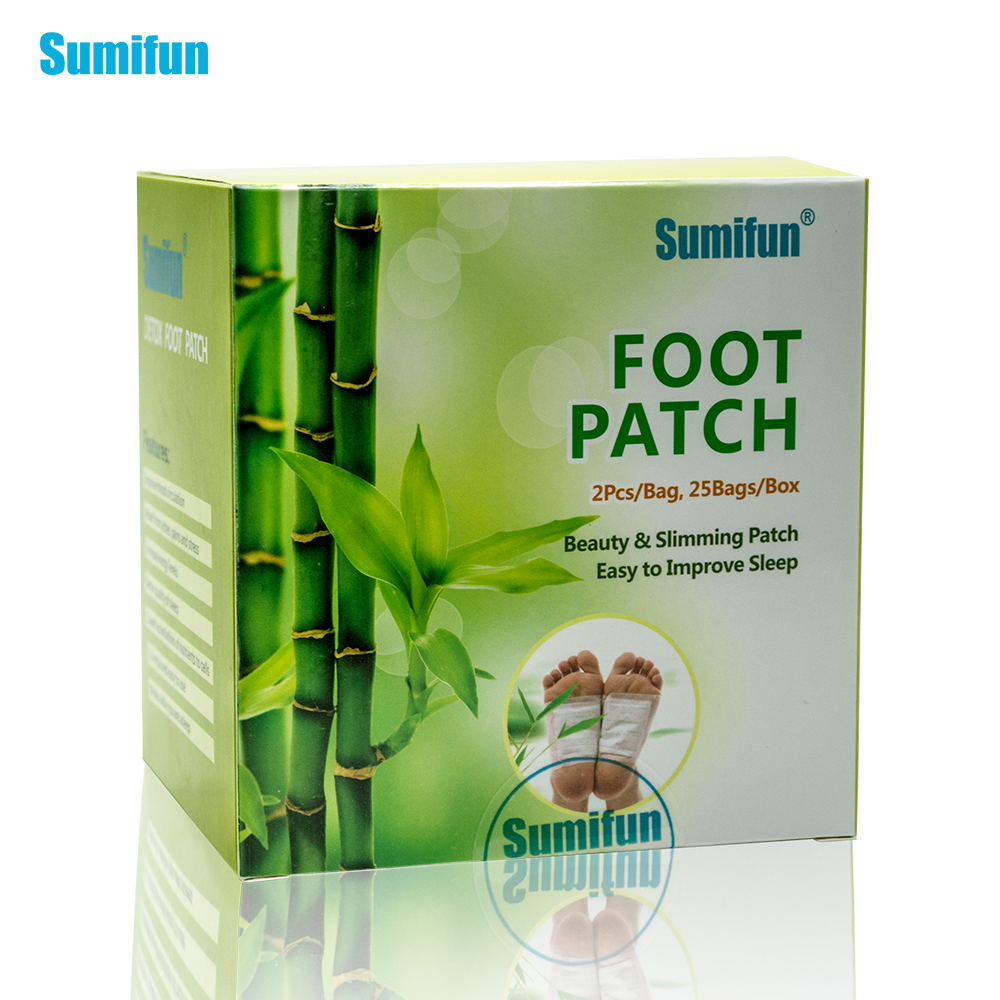 50pcs Patches+50pcs Adhesives Charcoal Detox Foot Pads Patches With Adhesive Foot Massage, Paste Anti-fatigue K02401