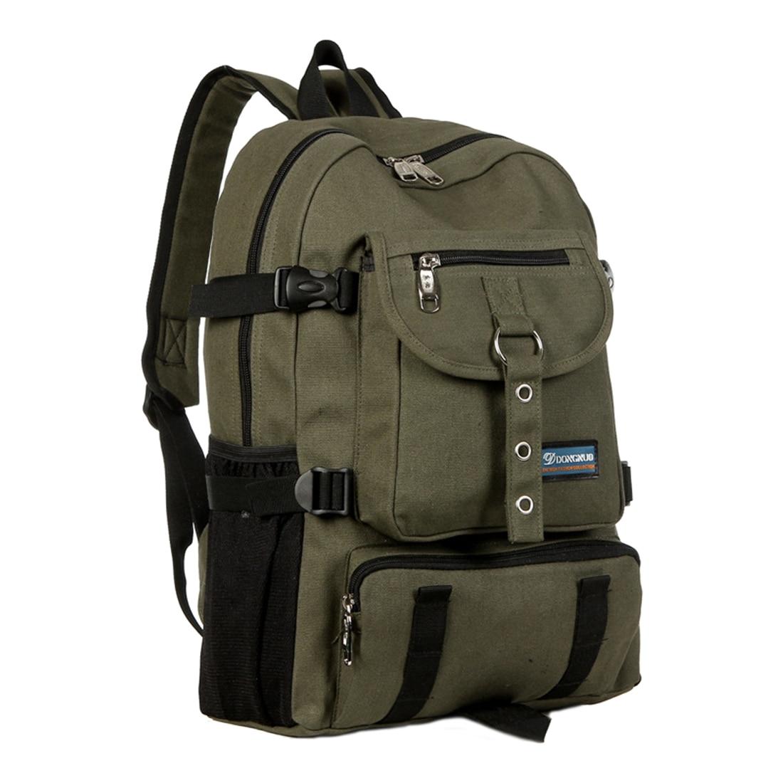 Backpack Shoulder-Strap Mountaineering-Shoulder-Bag School-Bag Canvas Zipper Clasp Arcuate