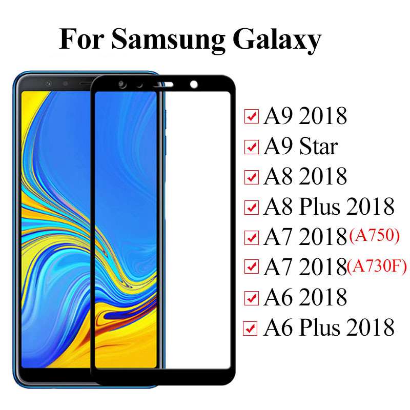 Tempered Glass For Samsung Galaxy A9 A8 A7 A6 Plus 2018 Protective Glass On For Samsung A9200 A750 A 9 8 6 Screen Protector Film