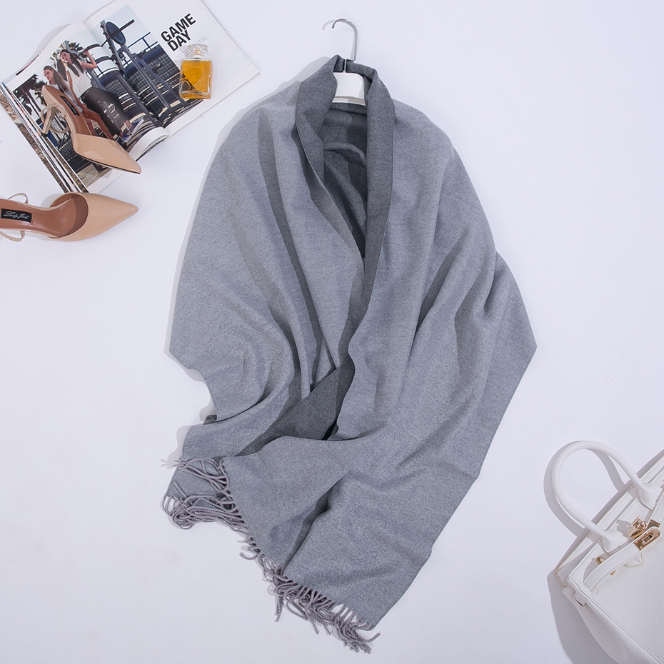 Image 3 - Double Sided Long Cashmere Winter Scarf Women Warm Kerchief Shawl Foulard Femme Stole Pashmina Neck Women Scarf For Ladies 2019-in Women's Scarves from Apparel Accessories