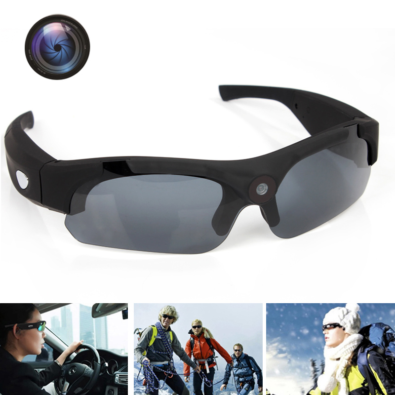b2bd1aa885fa 1080P HD Sunglasses Camera Wide Angle lens Sport Polarized glasses Camera  Bike Motorcycle Logger UV400 Protection Mini DV