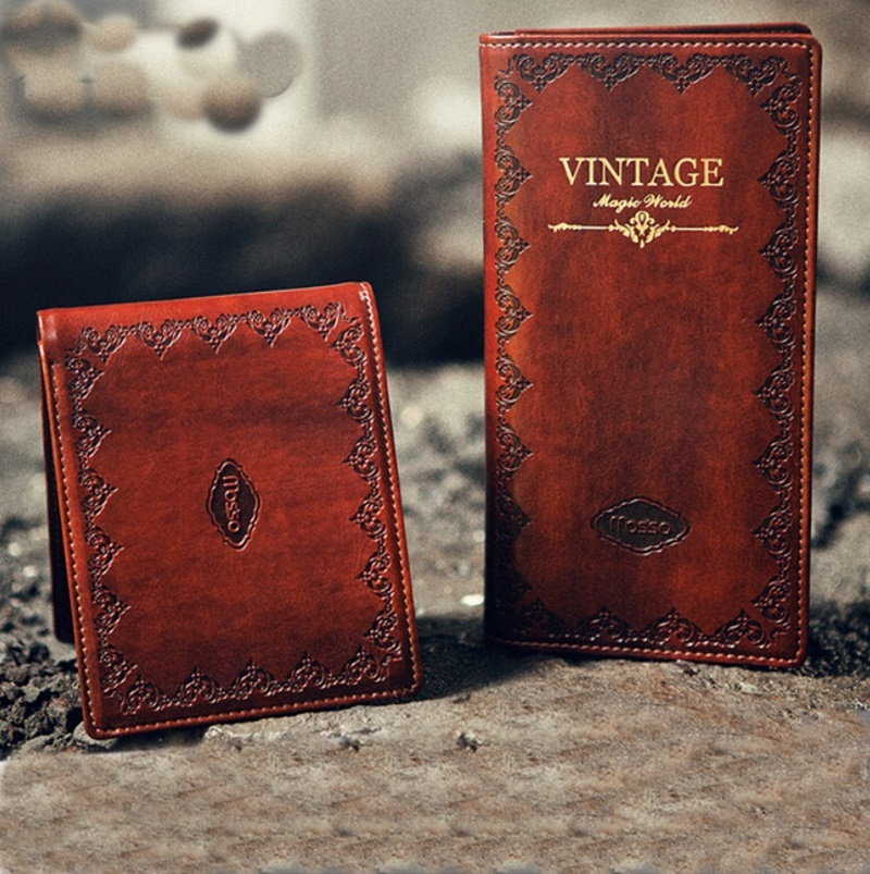 Vintage Genuine Leather Unisex Wallet Cowhide Embossing Long Business Men Purse Women Card Wallets Money Bag Carteira Feminina new fashion vintage genuine leather wallets long women clutch embossing wallet ladies purse money clips carteira feminina