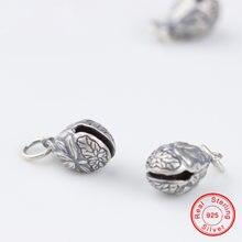 Uqbing винтажные тайские серебряные подвески с цветком и гравировкой