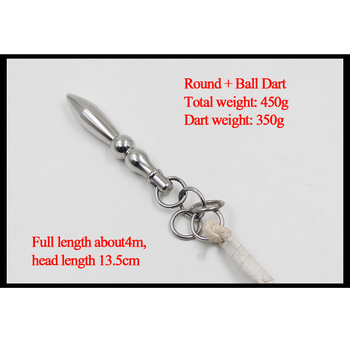 Kung Fu Weapons Stainless Steel Rope Dart Traditional Martial Arts Equipment with 4 M