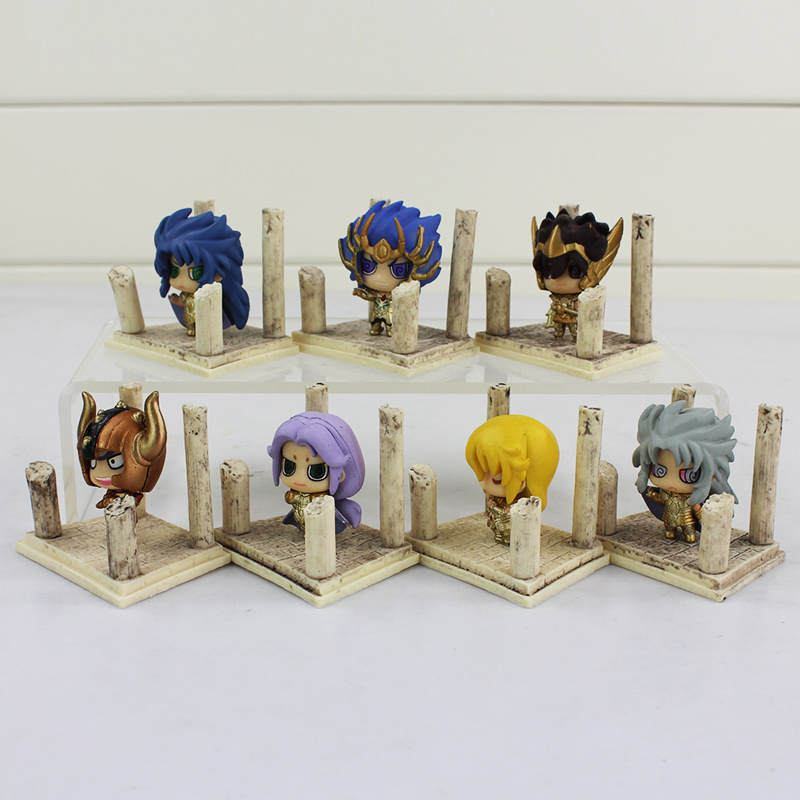 Image 2 - 7pcs/lot Seiya Shiryu Shun Hyoga Jabu Shaka Saga Kanon Knights of the Zodiac Figure Toys Anime Model Dolls-in Action & Toy Figures from Toys & Hobbies
