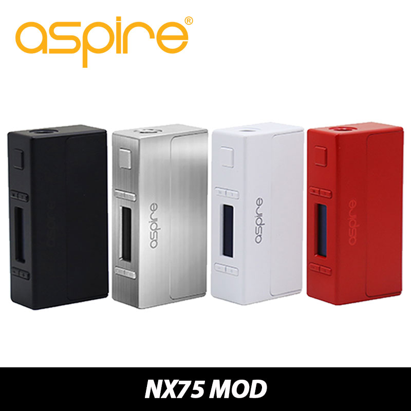 100% Original Aspire NX75 Mod TC 75W Box Mod Child Lock New Customizable Firing Button Profiles (CFBP) Function VW/TC Mod original smy 75w mini tc box mod