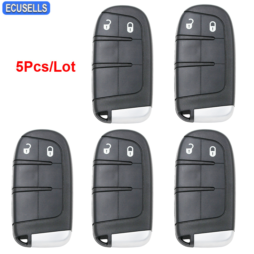 5 Pcs Lot 2 Button Smart Remote Key Case Car Key Shell for Chrysler 300 Challenger