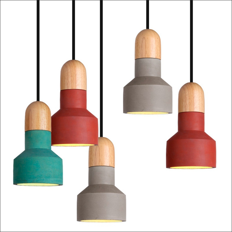 American Industrial Retro Cement Vintage Pendant Lights Edison Light Pendant Hanging Lamp E27 modern pendant lights nordic retro light american vintage industrial lamp edison pendant lamp fixtures