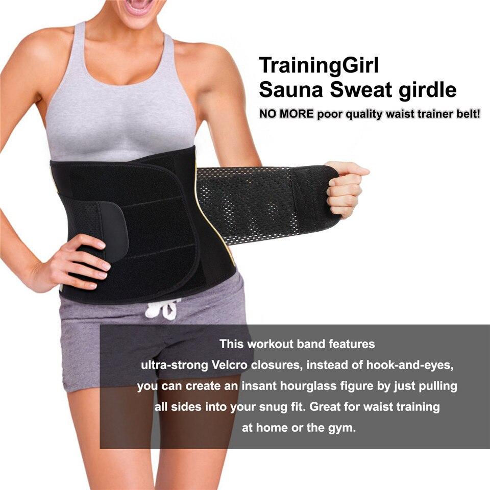 US $16 83 51% OFF|Junlan Women Waist Trainer Neoprene Slimming Belt  Reducing Workout Shapewear Tummy Control Training Shaper Modeling  Shaping-in Waist