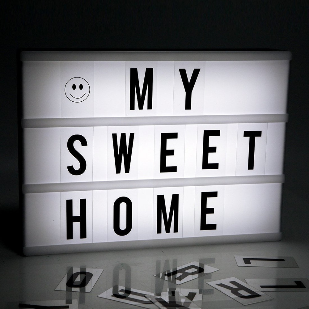 2017 New LED DIY Combination Light Box Night Lamp A4 A6 Size Letters Cards Luminaria Plaque