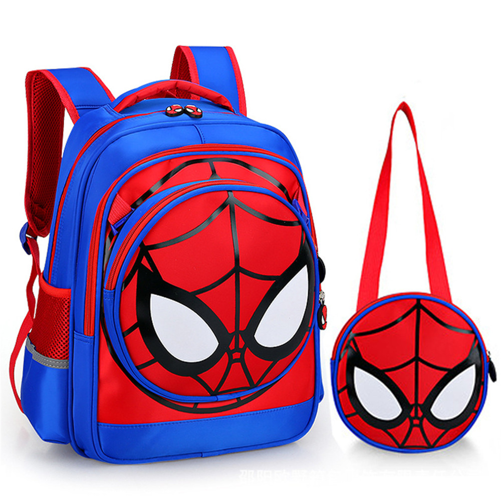 cosplay Accessories School Bags For Boys Waterproof Backpacks Child Spiderman Book bag Kids Shoulder Bag Satchel Knapsack