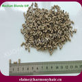 3.0*2.6*6.0mm Medium Blonde 6# Copper Micro Beads Rings Links for Hair Extensions 1000pcs/bottle, 8 bottles/lot