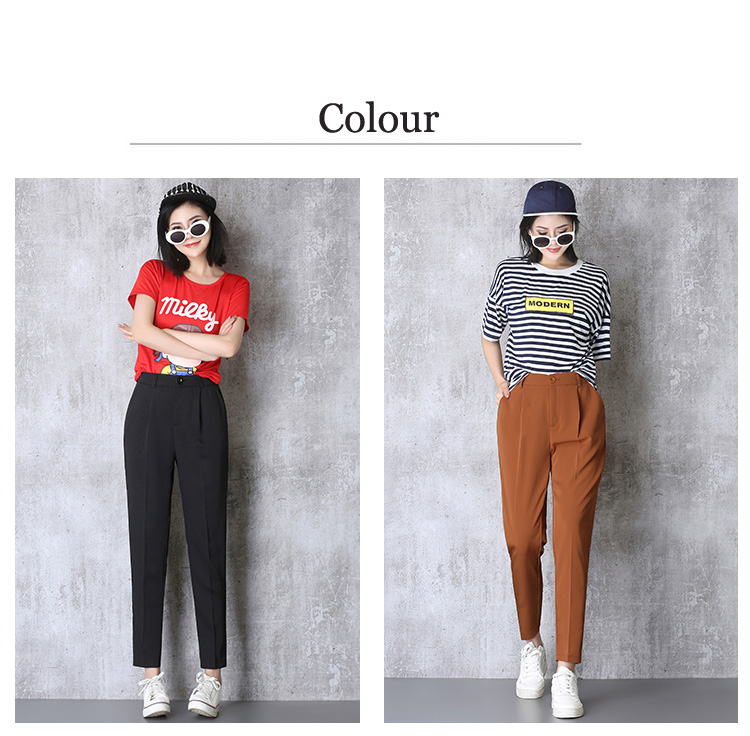 Hot Sale Harem Pants Women 19 Summer Autumn Pants Casual OL Pants Elastic High Waist Slim Work Pants Plus Size 3XL Trousers 1
