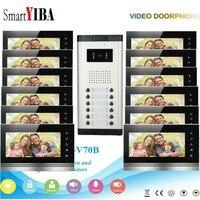 SmartYIBA Wired Vídeo Porta Telefone Campainha Intercom Sistema 12 1 Do Monitor Da Câmera com Visão Noturna  7 polegada TFT LCD Tela Sensível Ao Toque|Interfone com câmera| |  -