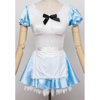 Corzzet Blue&White Alice In wonderland Costume Woman Cosplay Lolita Maid Party Fancy Halloween Costumes For Women Dress