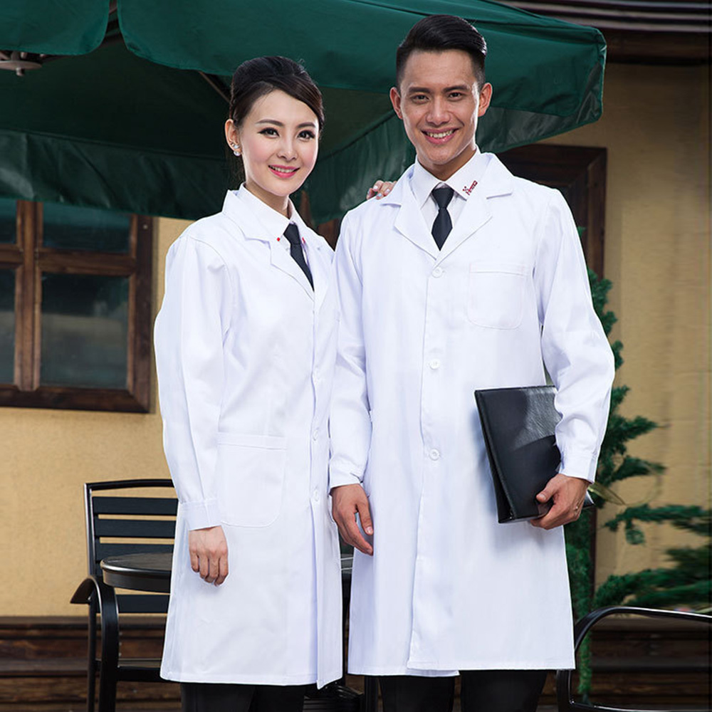 New Autumn&Winter Long Sleeves Thicken White Medical Coat Clothing Medical Services Uniform Women Men Work Clothes