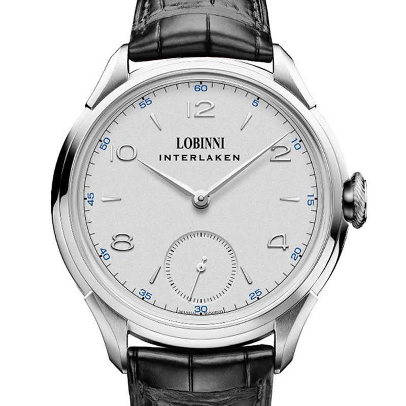 Швейцарские роскошные Брендовые Часы LOBINNI мужские японские механические часы с