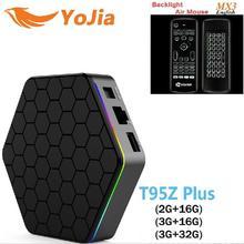 T95Z Plus Amlogic S912 Android 7.1 TV BOX 2 GB/3 GB 16 GB/32 GB Octa Core double WiFi Smart T95z Plus Set Top tv boîte PK mini m8s pro