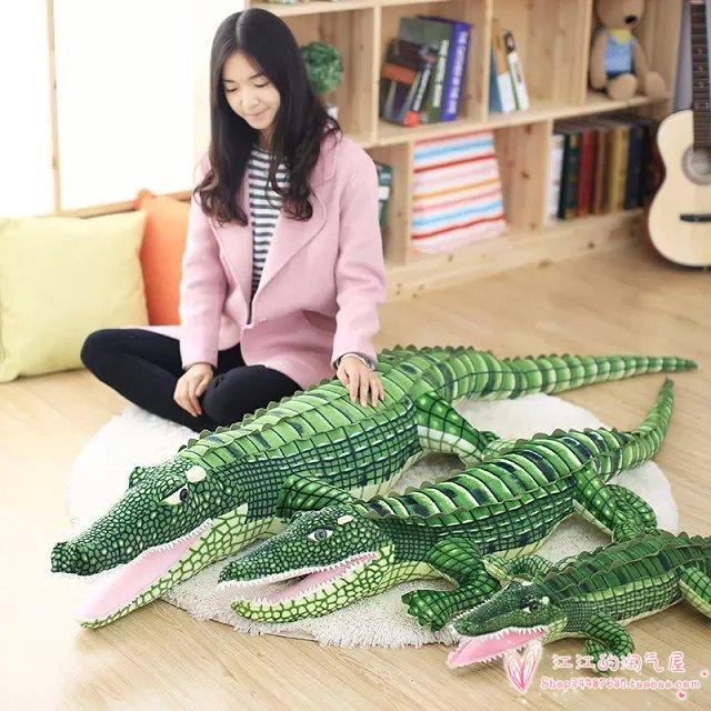 Simulation crocodile doux en peluche jouet oreiller jouet cadeau d'anniversaire h974