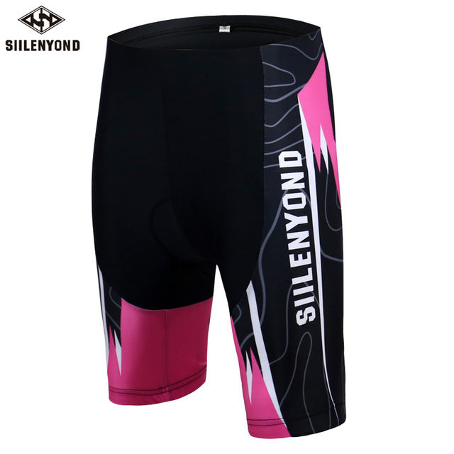e4e5c727c5e Siilenyond Cycling Shorts Summer Breathable Downhill Short Pants Mountain  Bike Short 3D Gel Padded Bicycle Short For Women