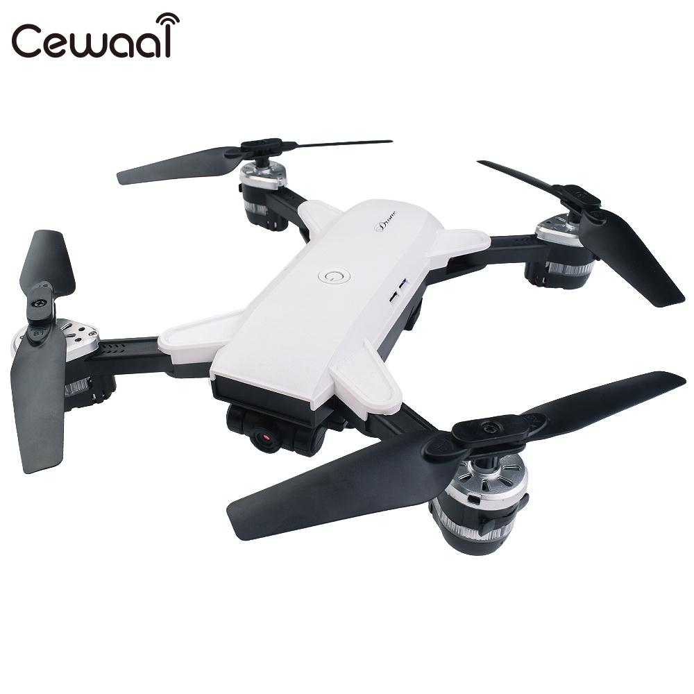Folding 2.4GHz 4 Channel 6 Axis Gyro WiFi FPV 2.0MP Wide Angle Camera Altitude Hold Remote Quadcopter Aircraft Drone Kid Gift night flight d20w wifi fpv 2 0mp 2 4ghz wireless remote control 4 channel 6 axis gyro quadcopter for beginners