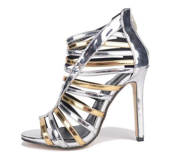 10a6c2f957 2017 Gladiator sandalias de salto sandals high heels women s pumps peep toe  summer boots shoes woman wedding party BY17081