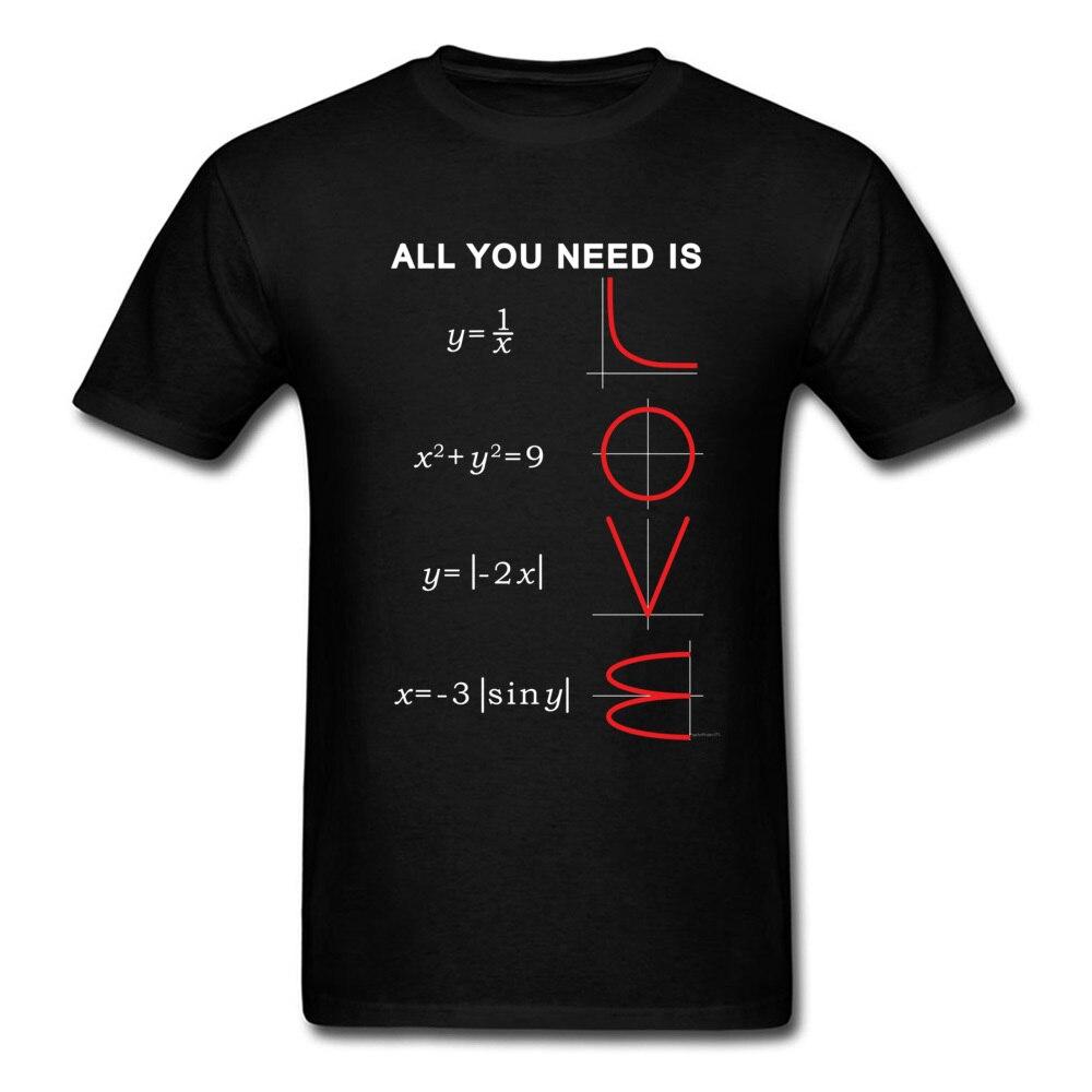 Geometric Algebra Equation Graph Tshirts A Ll You Need Is Love Math Science Problem Black Fashion TeeShirt Plus Size New T Shirt