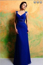 free shipping hot 2013 new design formal evening vestidos formales gown long customized royal blue celebrity Dresses