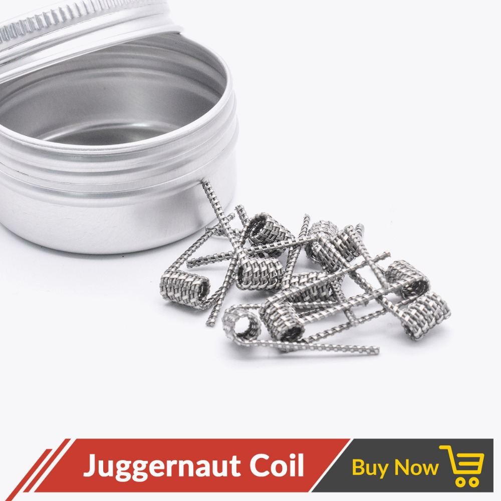Volcanee 10pcs/lot A1 NI80 Nichrome Juggernaut Coil Staple Staggered Fused Framed Staple Flat Tsuka Clapton Chain Link Vape Coil