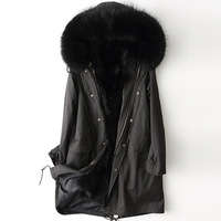 The new spring 2018 haining raccoon fur bladder sent to overcome with raccoon hair clip cotton coat 76 men and women