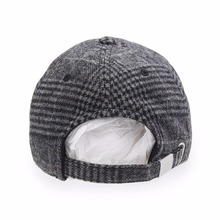 Snapbacks Cotton Plaid Woolen Cap