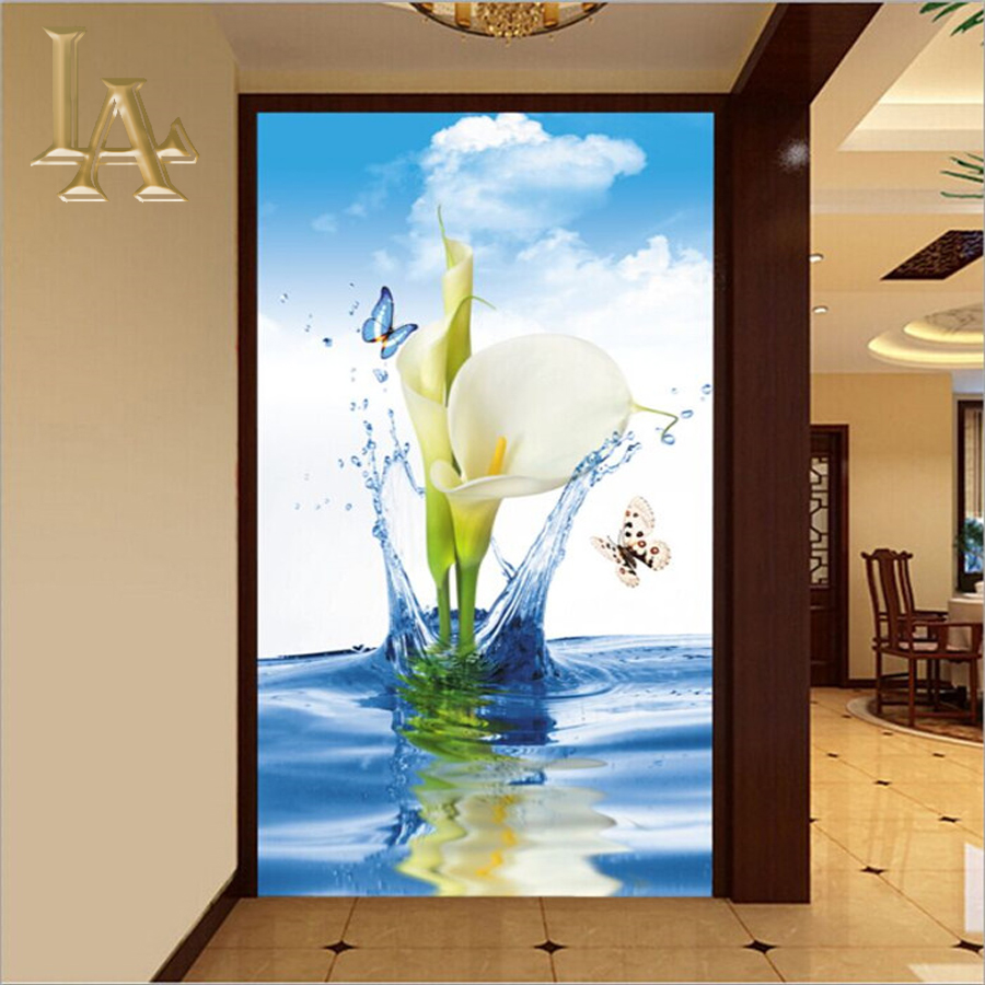 Customize Any Size 3D Modern Bedroom TV Background Wall Paper Home Decor Living Room Non-woven Mural Wallpaper