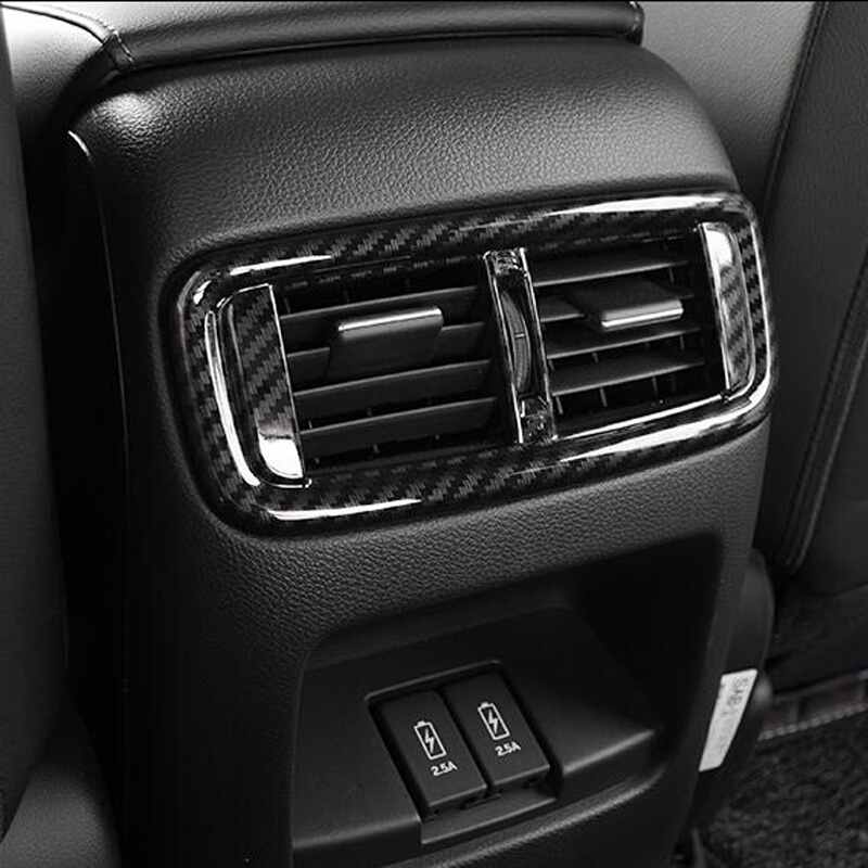 For Honda CRV CR V 2017 2018 ABS Matte Carbon Fiber Inerior Rear Air AC Vent