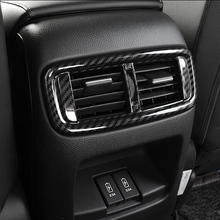 For Honda CRV CR-V 2017 2018 ABS Matte/Carbon Fiber Inerior Rear Air AC Vent Outlet Cover Frame Car styling Accessories 1pcs