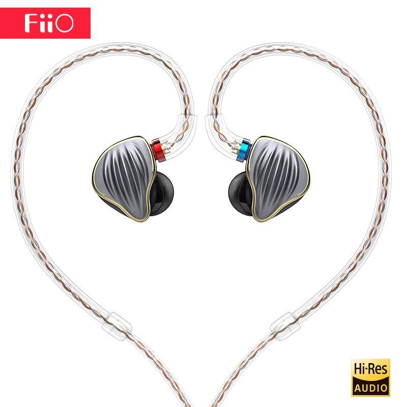 Original FiiO FH5 Caso Knowles fone de ouvido de alta fidelidade de Metal Destacável Cabo MMCX Projeto Quad Motorista Híbrido Fone de Ouvido plugue de 3.5mm