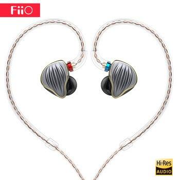 Original FiiO FH5 hifi earphone Metal Case Knowles Detachable Cable MMCX Design Quad Driver Hybrid Earphone 3.5mm plug