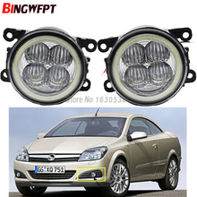 2x Super Bright Angel Eyes White Blue Led Fog light For Opel Vauxhall Astra TwinTop H 2006-2010