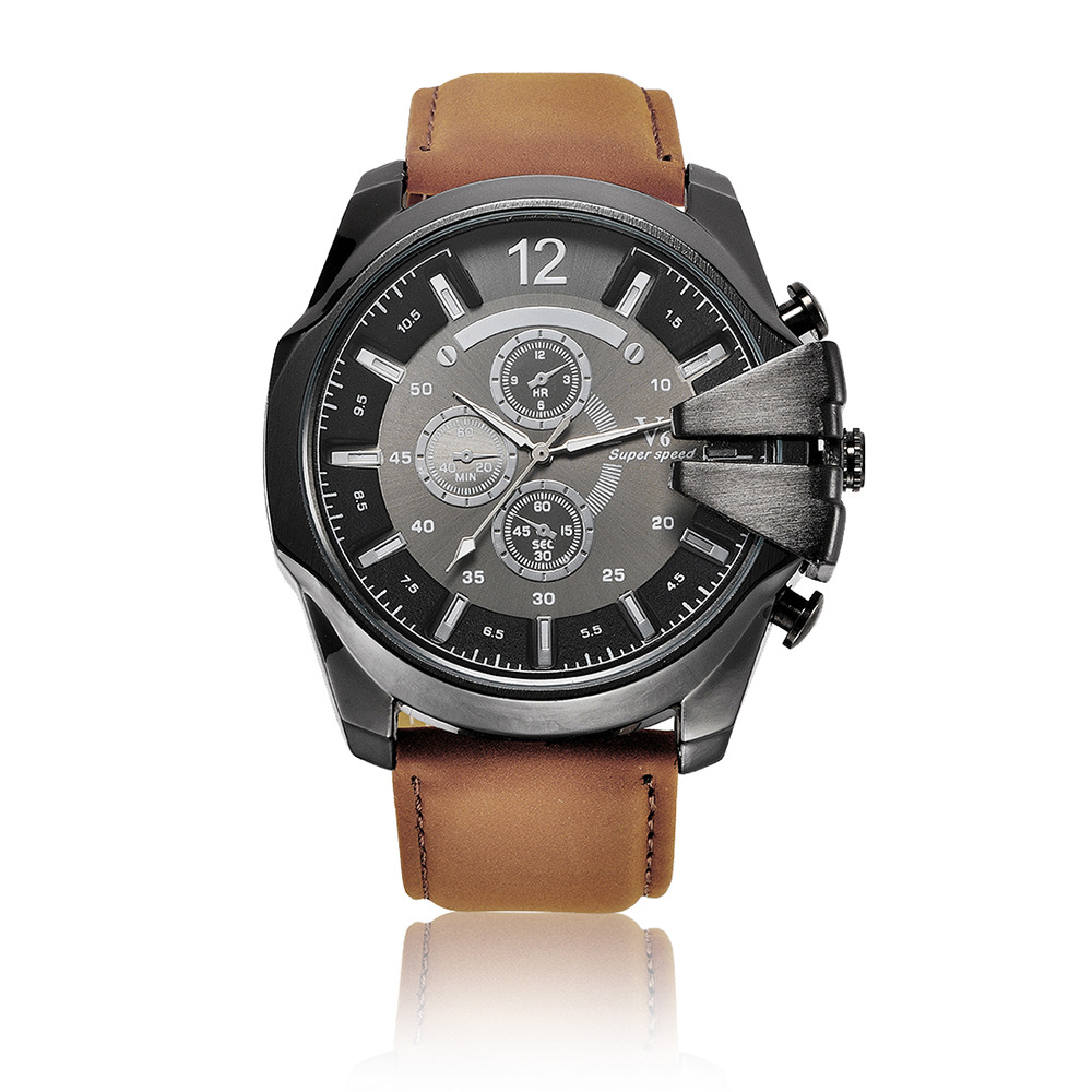 Men Luxury Casual Brand Watch Leather Military Sports Quartz Watches Fashion Business Male Big Size Hour Clock Relogio Masculino
