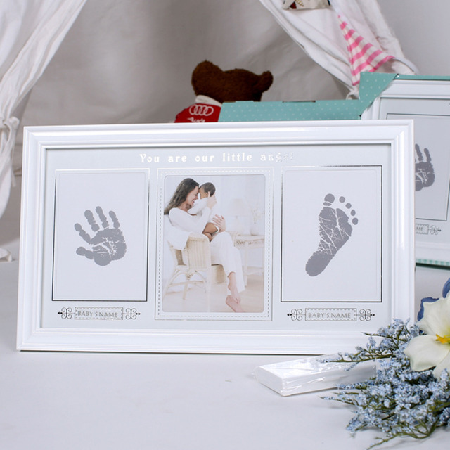 Picture Photo Frame Baby Handprint Footprint You Are Our Little ...