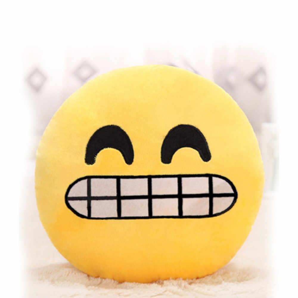 2018 de Alta Qualidade de Cristal 32 cm Emoji Smiley Emoticon Macio Recheado Boneca de Brinquedo de Pelúcia Travesseiro Presente Tampa Do Caso