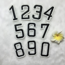 fd63edf58 New 0-9 Digital Jersey Number Tag Embroidered Patches Sewing Iron On Mark  Badges Patch